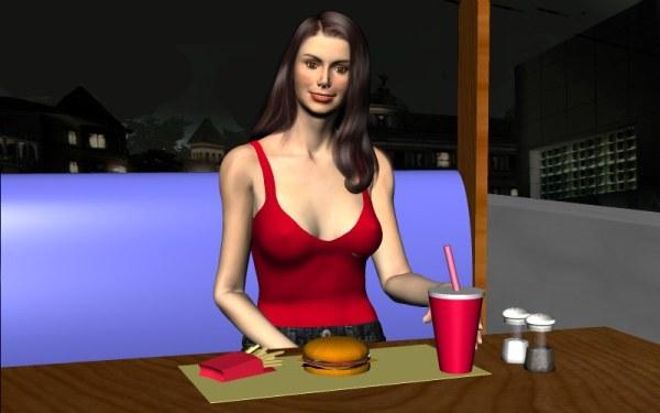 симулятор свиданий - Виртуальное свидание с Арианой на русском языке